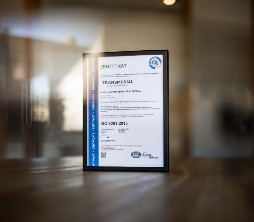 Unsere ISO 9001 Zertifizierung