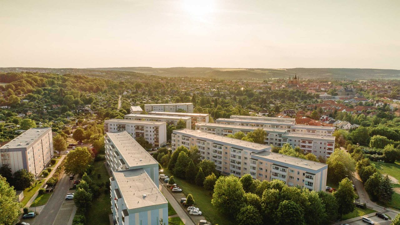 Drohnenbild Naumburg